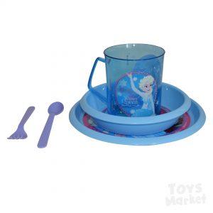 Set de comida (Plato, vaso y cubiertos) toys market jugueteria cali